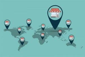 Franchise global map